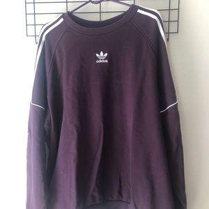 old school style Adidas sweat shirt xl